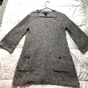 Karen Scott Knit Sweater w/ 3/4 Sleeves & Pockets